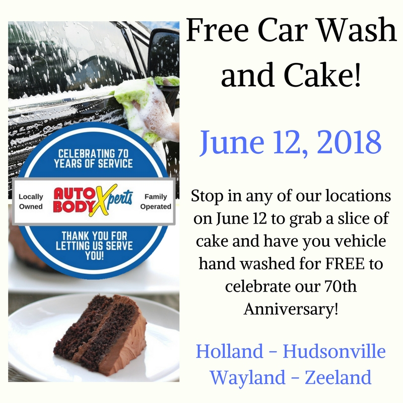 Free Car Wash and Cake! Use