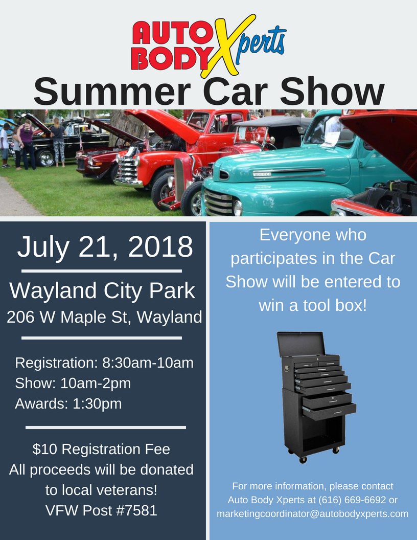 Wayland Car Show Flyer